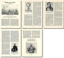1958 Austrian Siege Of Venice Aerial Warfare 1849 Old Article