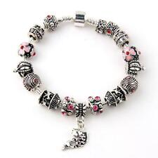 Fish Charm Chamilia Bracelet 925 Tibetan Silver Murano Glass For Women Fashion E