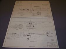 VINTAGE..PIPER J-3 CUB...3-VIEWS/SPECS/CROSS SECTIONS...RARE! (816M)
