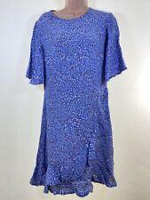 Neues AngebotBNWOT Next Blau Ditsy Print Rüsche Borte Shift Kurzarm Tee Kleid Größe 12