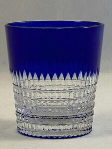 """**RARE** DORFLINGER RENAISSANCE COBALT BLUE ABP CUT 3-1/4"""" OLD FASHIONED GLASSES"""