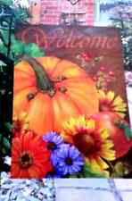 "Garden Flag ~ ""Fall Welcome"" ~ 12.5"" x 18"" ~ New in Package"