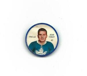 1961-62 Salada Hockey Coin:#42 Allan Stanley,Maple Leafs