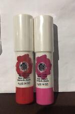 The Body Shop Lip And Cheek Sticks Set 40 Poppy Red & 20 Poppy Pink New