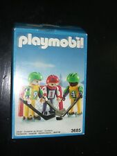VINTAGE 1991 PLAYMOBIL 3685 HOCKEY TEAM JUNIOR CHILDREN BOXED MINT