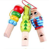Baby/Kid Children Random Lovely Wooden Cartoon Animal Whistle Educational Toy SE