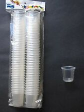 100 Clear Disposable Plastic Shot Glasses 30ml - Great for All Party and Events
