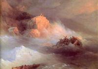 Nice Oil Ivan Constantinovich Aivazovsky - Shipwreck - Seascape & ocean waves