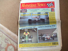 Motoring News 7 May 1992 Escort RS Cosworth Tour of Corsica Rally Spanish GP