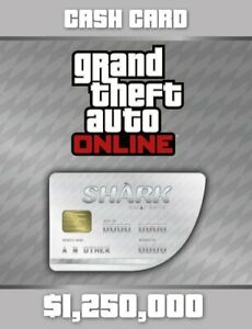 Grand Theft Auto V GTA: Great White Shark Cash Card - PC Edition - REGION FREE