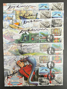 Superb Set of 6 Gerry Anderson FDC's signed by Gerry Anderson each No 9 of 10