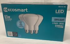 A (3) PACK LED Light Bulb, BR30 Dimmable, 65W DAYLIGHT -  EcoSmart