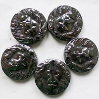M0029857 Beautiful 5pcs Hematite Lion's Head Pendant Bead