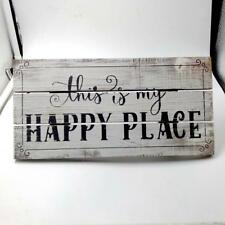 "Shabby ""this is my HAPPY PLACE"" Wooden Sign Craft Home Art Decor Wall Plaque"