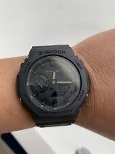 Nueva marca Casio G-shock Reloj limitada de carbono apagón casioak Raro GA2100-1A1