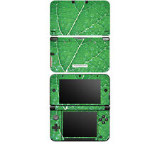 Vinyl Skin Decal Cover for Nintendo 3DS XL LL - Green Leaf Texture