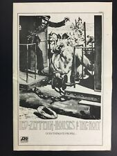 "Led Zeppelin Rare Original Houses Of The Holy 11.5X17"" Promo Poster Ad 1973"