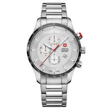 Wenger Classic 01.9043.204c Men's 44mm Swiss Chronograph Stainless Steel Watch