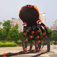 3D 23m Black 1 Line Stunt Parafoil Octopus Power Sport Kite outdoor Toy