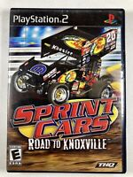 Sprint Cars: Road to Knoxville Sony PlayStation 2, Black Label PS2 Complete CIB