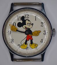 """Vintage Mickey Mouse """"Walt Disney Production"""" Watch For Parts Or Repair"""