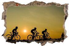 Fahrrad Bike bei Sonnenuntergang Wandtattoo Wandsticker Wandaufkleber D0928