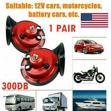 1 Pair 12V 300Db Super Train Horn For Trucks Suv Car Boat Motorcycles