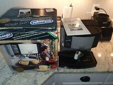 DeLonghi Cafe Venezia Espresso & Cappuccino Maker, Black,Stainless Steel BarM29U