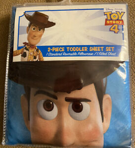 Disney Pixar Toy Story 4 2-Piece Toddler Sheet Set 100% Polyester New in Package
