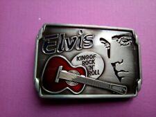"""ELVIS KING OF ROCK """"N"""" ROLL  MOTORCYCLE BELT BUCKLES"""