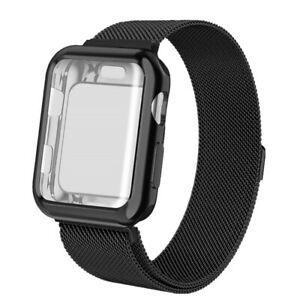 For Apple Watch Series 6/5/4/3/2/1 Band with Screen Protector Case 44/38/40/42MM