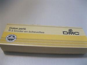12 Skeins of DMC Perle Cotton Black  Needlepoint Thread New in Box