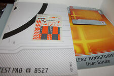Lego Mindstorms 8527 Instruction Manuals CD Sticker Sheet and Test Pad