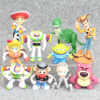 Toy Story Woody Buzz Lightyear Jessie Rex Alien 10 PCS Figure Toys Cake Toppers