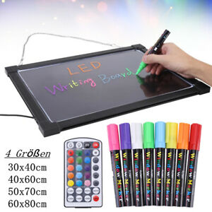 LED Schild Leuchtreklame Werbung Sign Neon Leuchtschild Display Schreibtafel Set