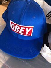 Obey Azul/Rojo Y Blanco Gorra Gorro Gorra de béisbol