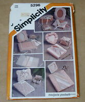 SIMPLICITY MARJORIE PUCKETT HOME DECORATING CRAFT SEWING PATTERN 5296