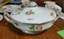 VTG Lynmore Golden Rose Casserole Dish with Lid Fine China Estate find