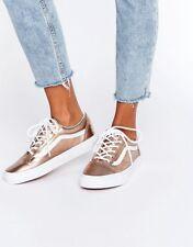 Vans OLD SKOOL Metallic Rose Gold/White Women's Shoes 8