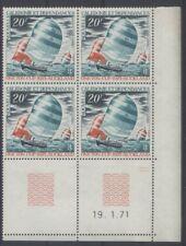 SPORT VOILE Nouvelle Calédonie 1val de 1971 ** coin daté