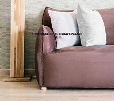 16'' Super Soft Cotton Velvet Bright White Solid Pillow Case Sham Cushion Cover