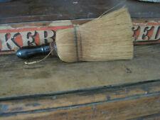 New listing Old Primitive Wonderful Whisk Broom Original Black Paint Wood Handle String Tied