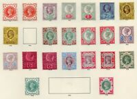 GB QV 1887 Jubilee Complete Set to 1/- (Mint MH) on Windsor page