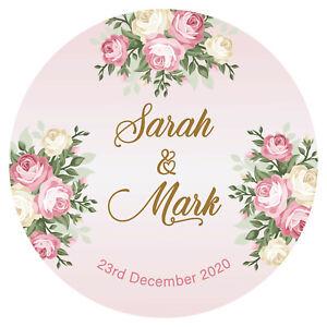 Personalised Wedding Celebration Stickers Labels Bag GLOSS MATT lots of 24 & 35