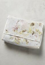 NEW Anthropologie Fleur Clutch Handbag Perforated Floral Letaher Bag