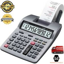Printing Calculator Mini Desktop 12 Digit LCD Large Display 2 Color Printer NEW