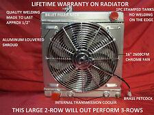 "1964 1965 1966 FORD MUSTANG,FALCON,COMET 100% ALUMINUM RADIATOR,SHROUD & 16"" FAN"