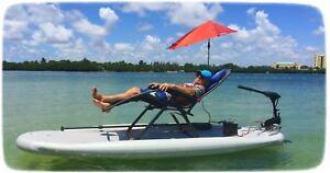 Inflatable Motorized Fishing Platform Paddle Surf Board Kayak Dingy Raft Boat