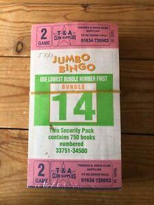 750 Books 2 Game Jumbo Bingo Tickets Thomas and Anca Bundle 14 - Sealed