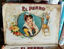 Antique PERBO Cigar Box – VERY RARE BOWLING GREEN KY.